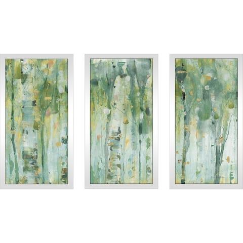 "Lisa Audit ""The Forest III"" Framed Plexiglass Wall Art Set of 3"