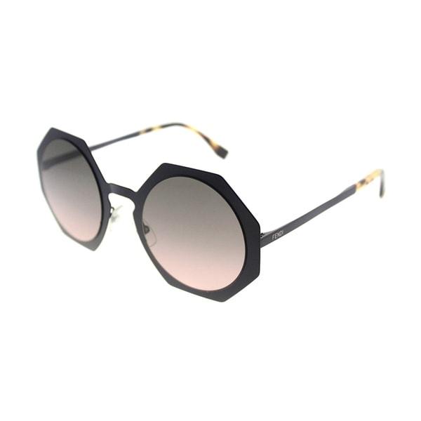 afbd9f44af8 Fendi Fashion FF 0152 Facets 7BG EN Women Matte Blue Frame Pink Gradient  Lens Sunglasses