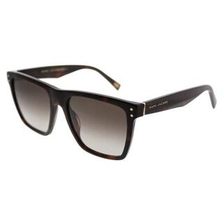 Marc Jacobs Rectangle Marc 119 ZY1 Unisex Havana Medium Frame Brown Gradient Lens Sunglasses