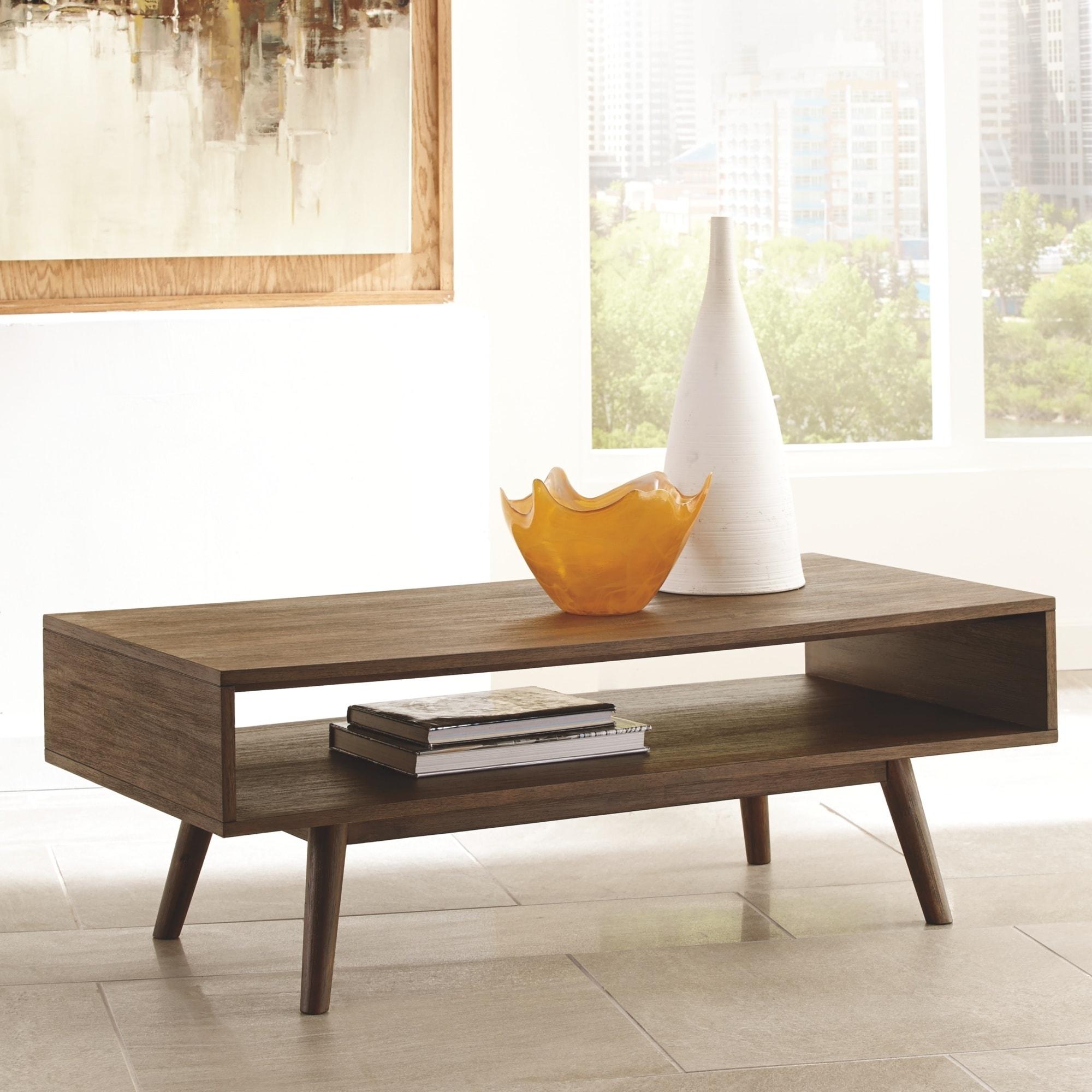 Kisper Mid Century Modern Wooden Rectangular Tail Table