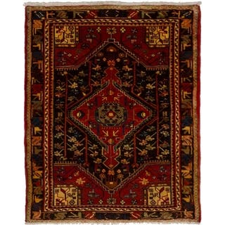 eCarpetGallery Hand-knotted Nahavand Red Wool Rug (3'3 x 4'2)