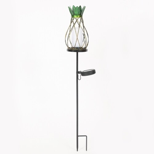 Bon Pineapple Solar Light Garden Stake