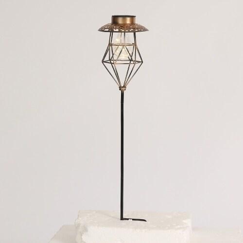 Cage Lantern Solar Light Garden Stake