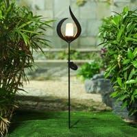 Metal Fire Solar Light Garden Stake
