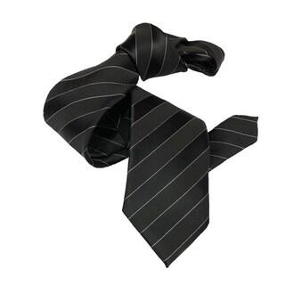DMITRY Black Striped Italian Silk Men's Tie