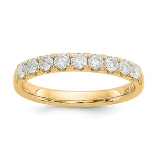 Link to 14K Yellow Gold 1/2ct. 9 Stone True Light Moissanite Band by Versil Similar Items in Rings