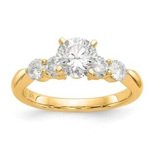 Versil 14 Karat Yellow Gold 2.4ct. 5 True Light Moissanite Ring (5 options available)
