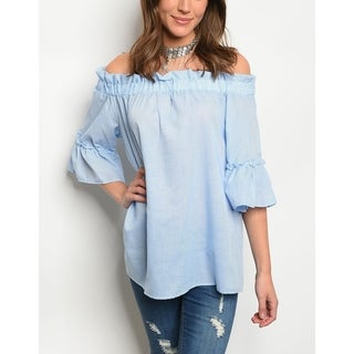 JED Women's Off Shoulder Cotton Poplin Top
