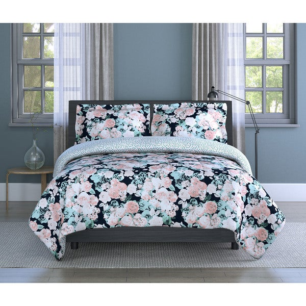 Shop English Garden Floral Soft Microfiber Pink White