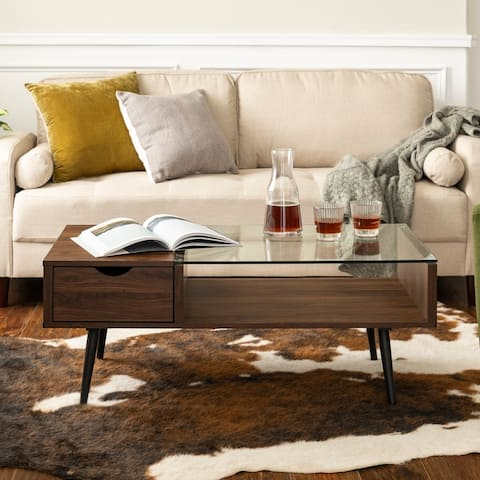 Carson Carrington Saltaro Glass Top Coffee Table