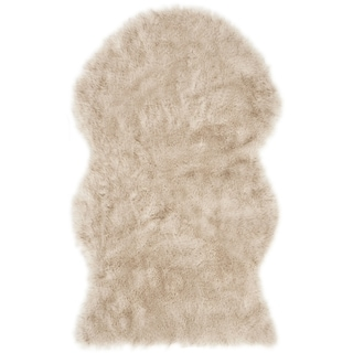 Safavieh Faux Sheep Skin Tawanda Shag Solid Rug