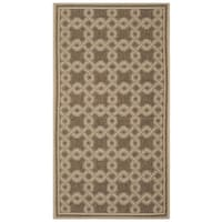 Safavieh Martha Stewart Contemporary Brown / Creme Rug - 2'-7 x 5'