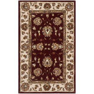 Safavieh Hand-Hooked Total Performance Traditional Burgundy / Ivory Rug - 3' x 5'