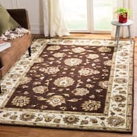 Safavieh Hand-Hooked Total Performance Traditional Brown / Ivory Rug - 3' x 5'