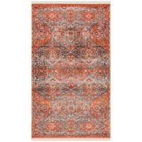 Safavieh Vintage Persian Vintage Aqua / Orange Polyester Rug - 3' x 5'