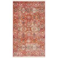 Safavieh Vintage Persian Vintage Red / Orange Polyester Rug - 3' x 5'