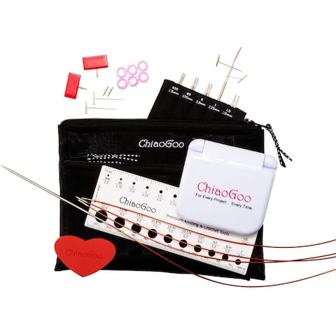 """TWIST Red Lace Interchangeable Knitting Needle 4"""" Tip Set"""