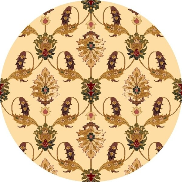 "Cambridge 7365 Ivory Palazzo 7'7"" Octagon - 7'7"" octagon"