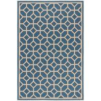 Safavieh Linden Contemporary Blue / Creme Rug - 4' x 6'
