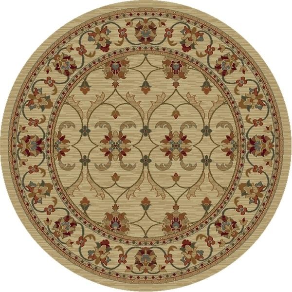 "Lifestyles 5471 Ivory Agra 5'3"" Round - 5'3"" round"