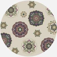 """Horizon 5721 Natural Mosaic 6'9"""" Round - 6'9"""" round"""