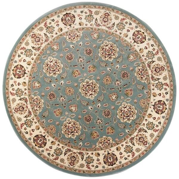 KAS Rugs Kingston 6406 Blue/Ivory Mahal - 8' diameter