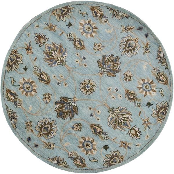 KAS Rugs Syriana Blue Kashia Wool Area Rug - 5'6 Round