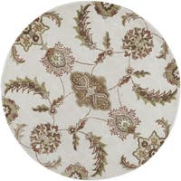 Florence 4586 Sand Allover Mahal 5' x 5' Round - 5' x 5' round