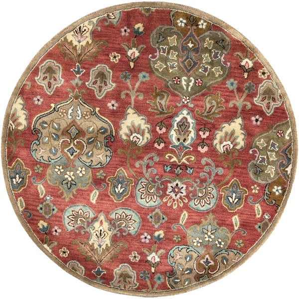 """Syriana 6025 Cinnamon Tapestry 5'6"""" Round - 5'6"""" round"""