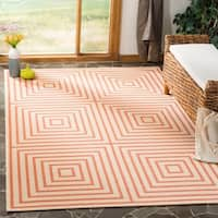 "Safavieh Linden Contemporary Cream / Rust Rug - 5'1"" x 7'6"""