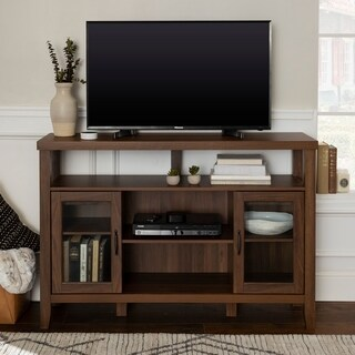 52-inch Wood Console High Boy Buffet