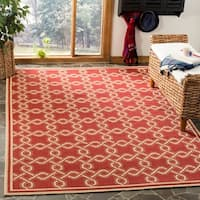 Safavieh Martha Stewart Contemporary Red / Creme Rug - 5'3' x 7'7'