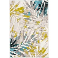 "Safavieh Skyler Watercolor Botanical Grey / Green Rug - 5'1"" x 7'6"""