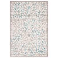Safavieh Skyler Contemporary Ivory / Blue Rug (5'1' x 7'6')