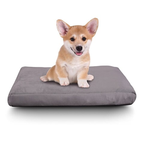 Cr Cat Bed Memory Foam Pet Bed for Cats & Small Dogs, Waterproof Design, 22 x 16-Inch, Charcoal Gray