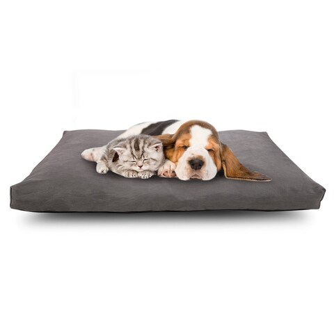 "Cr Waterproof Dog Bed Memory foam Pet Bed Medium Size 34"" x 22"", Cover Removable, Charcoal Gray"