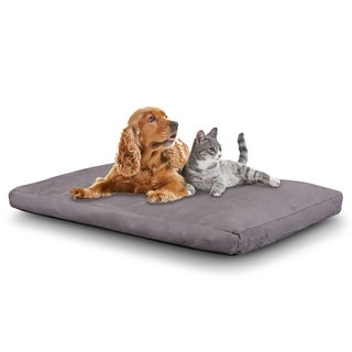 Cr Large Dog Bed Memory Foam Pet Bed Waterproof, Removable Cover, Extra Large, 46 x 28-Inch, Gray