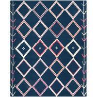Safavieh Handmade Bellagio Moroccan Boho Navy / Multi Wool Rug - 6' x 9'