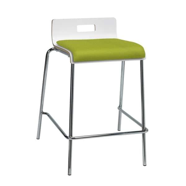 Surprising Shop Kfi Jive Counter Height Stool White Back Low Back Beatyapartments Chair Design Images Beatyapartmentscom