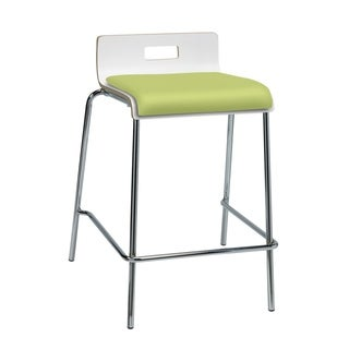 KFI Jive Counter Height Stool, White Back, Low Back, Plywood Shell
