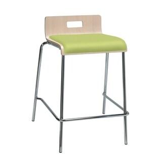KFI Jive Counter Height Stool, Natural Back, Low Back, Plywood Shell