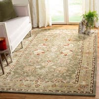 Safavieh Hand-Hooked Total Performance Traditional Sage / Beige Rug (6' x 9')