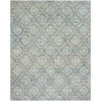 Safavieh Handmade Abstract Contemporary Blue / Grey Wool Rug - 8' x 10'