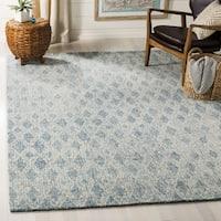 Safavieh Handmade Abstract Contemporary Ivory / Blue Wool Rug - 8' x 10'