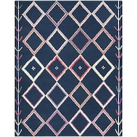 Safavieh Handmade Bellagio Moroccan Boho Navy / Multi Wool Rug - 8' x 10'