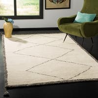 Safavieh Handmade Casablanca Contemporary Ivory / Charcoal Wool Rug (8' x 10')