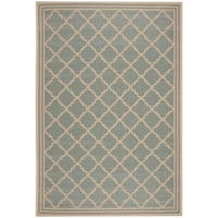 Safavieh Linden Contemporary Aqua / Cream Rug (8' x 10') - 8' x 10'