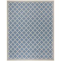 Safavieh Linden Contemporary Blue / Creme Rug - 8' x 10'
