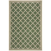 Safavieh Linden Contemporary Green / Creme Rug - 8' x 10'