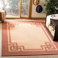 Safavieh Martha Stewart Contemporary Beige / Terracotta Rug - 8' x 11'2""